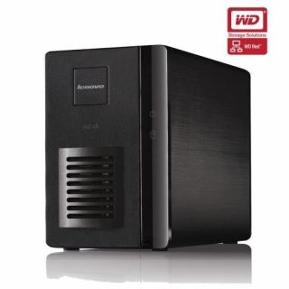 Product image of LenovoEMC IX2 Fully Populated 2-Bay Network Storage Marvell (6282) 1.6GHz 256MB 6TB (2x3TB) LAN USB2.0 (Black) - (WD RED Drive Model)
