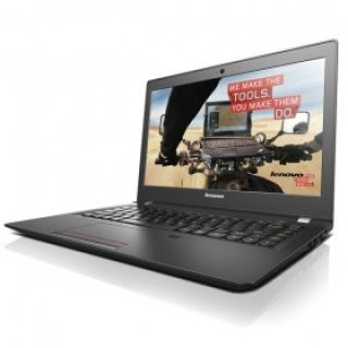 Product image of Lenovo E31-70 (13.3 inch) Notebook Core i5 (5200U) 2.2GHz 4GB (1x4GB) 128GB SSD WLAN BT Webcam Windows 7 Pro 64-bit/Windows 8.1 Pro 64-bit RDVD (Intel HD Graphics) Black