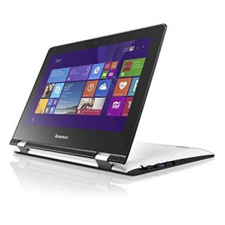 Product image of Lenovo Yoga 300 (11.6 inch Multi-touch) Tablet PC Pentium (N3540) 2.16GHz 4GB (1x4GB) 500GB WLAN BT Webcam Windows 8.1 64-bit (Intel HD Graphics) White
