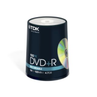 Product image of TDK DVD+R 16x 4.7GB 120min Cakebox (100 Pack)