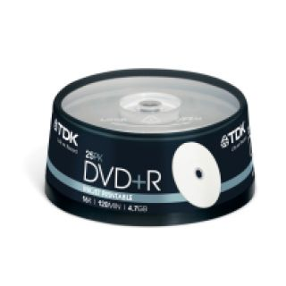 Product image of TDK DVD+R 16x 4.7GB 120min Cakebox (25 Pack)