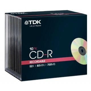Product image of TDK T18765 TDK CD-R 700MB 52X 10P SJC