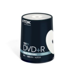 Product image of TDK DVD+R 4.7 GB 16x 120min Printable Cakebox (100 Pack)