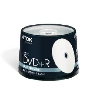 Product image of TDK DVD+R Printable 16x 4.7GB Matt Spindle (50 Pack)