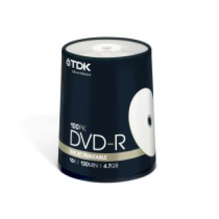 Product image of TDK DVD-R Printable 16x 4.7GB 120min Cakebox (100 Pack)