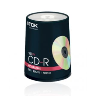 Product image of TDK CD-R 700MB 80min 52x Speed Cakebox (100 Pack)