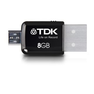 Product image of TDK 8GB 2-in-1 Mini Express USB 3.0 Android Flash Drive