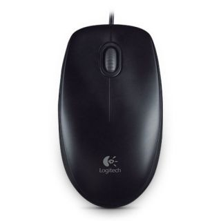 Product image of Labtec Logitech B100 Black Optical Mouse for Business