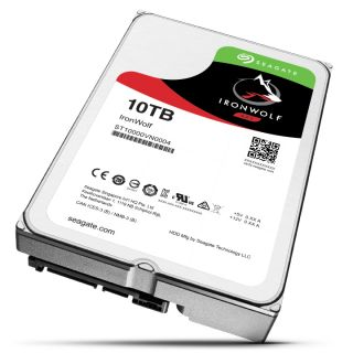 Product image of Seagate IronWolf (10TB) 3.5 inch NAS Hard Drive (7200rpm) SATA 6Gb/s 256MB (Internal) - Standard 512E Model