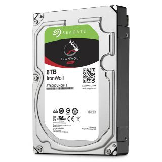 Product image of SEAGATE - NAS HDD DESKTOP IRONWOLF 6TB NAS 3.5IN 7200RPM 6GB/S SATA 128MB
