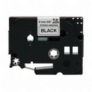 Product image of Brother P-touch TZ-221 (9mm x 8m) Black On White Gloss Laminated Labelling Tape