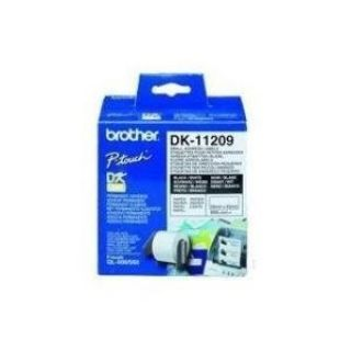 Product image of Brother P-touch DK-11209 (29mm x 62mm) Black On White Small Address Labels (800 Labels)