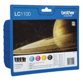 Product image of Brother LC1100VALBP Value Blister Pack Ink Cartridges (Cyan/Magenta/Yellow/Black)