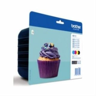 Product image of Brother LC123 (Value Pack) Ink Cartridge (Yield 600 Pages) for Brother DCP-J411DW