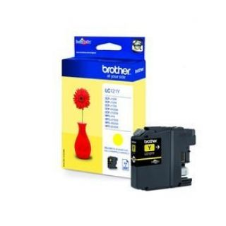 Product image of Brother LC121Y Yellow Inkjet Cartridge (Yield 300 Pages)
