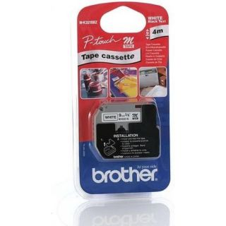 Product image of Brother P-touch M-K221SBZ (9mm x 4m) Black on White Plastic Labelling Tape