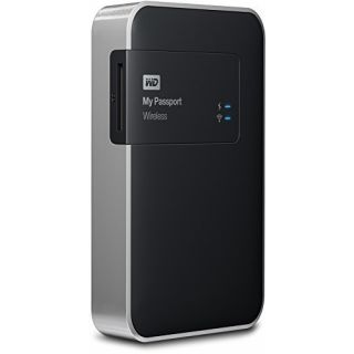 Product image of WD My Passport (500GB) Wireless USB 3.0 WiFi Portable Hard Drive (Black)