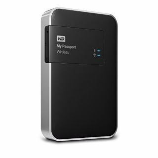 Product image of WD My Passport (1TB) Wireless USB 3.0 WiFi Portable Hard Drive (Black)