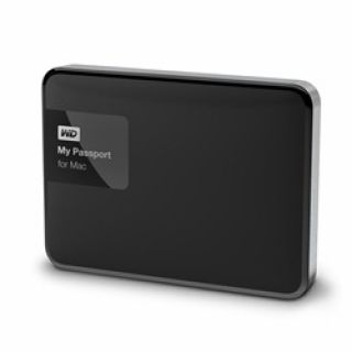 Product image of [Ex-Demo] WD My Passport for MAC (1TB) Portable Hard Drive USB 3.0 (Black/Silver) (Opened / Item as new)