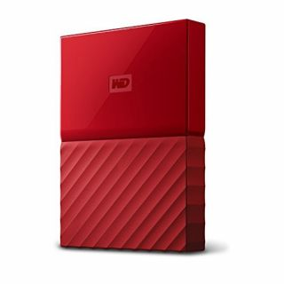 Product image of WD My Passport (1TB) USB 3.0 Portable Hard Drive (Red) External