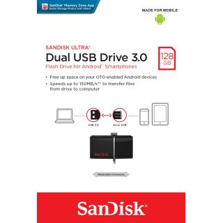 Product image of SanDisk Ultra Dual (128 GB) USB Drive 3.0 Flash Drive