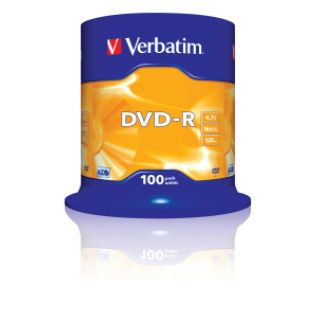 Product image of Verbatim DVD-R 4.7GB 16x Matt Silver (100 Pack Spindle)