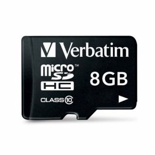 Product image of Verbatim (8GB) Micro SDHC - Class 10 with Adapter