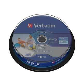 Product image of Verbatim BD-R SL Datalife 25GB)6x Wide Inkjet Printable (10 Pack) Spindle