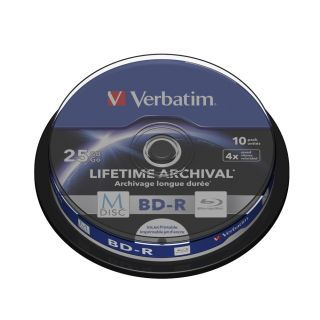 Product image of Verbatim M-Disc 25GB BD-R 4x Spindle (10 Pack)