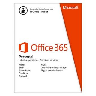 Product image of Microsoft Office 365 Personal 32/64 Bit 1 Year Subscription (English - Eurozone)