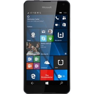 Product image of Microsoft Nokia Lumia 650 (5 inch Display) Sim Free 16GB Memory Windows 10 8MP Camera Qualcomm Snapdragon 212 1300 MHz (Black)