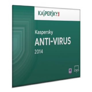 Product image of Kaspersky Lab Anti-Virus 2014 1 User 1 Year DVD Software