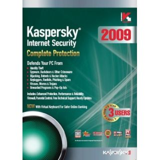 Product image of Kaspersky Internet Security 2009 3 x User 1 Year (Boxed)