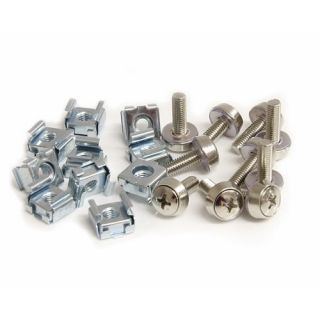 Product image of StarTech 50 Pkg Mounting Screws and Cage Nuts for Server Rack Cabinet