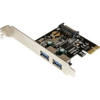 Product image of STARTECH PEXUSB3S23 2 Port PCI Express PCIe SuperSpeed USB 3.0 Controller Card w/ SATA Power
