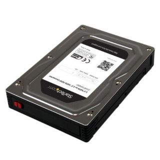 Product image of StarTech 2.5 inch  to 3.5 inch SATA Aluminum Hard Drive Adapter Enclosure with SSD / HDD Height up to 12.5mm