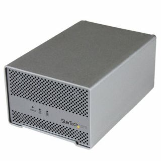 Product image of StarTech Thunderbolt Hard Drive Enclosure with Thunderbolt Cable - Dual Bay 2.5 HDD Enclosure with fan