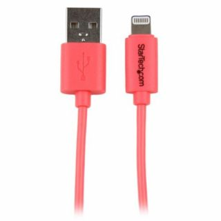 Product image of StarTech (1m/3 feet) Pink Apple 8-pin Lightning Connector to USB Cable for iPhone / iPod / iPad