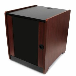 Product image of StarTech 12U Office Server Cabinet with Wood Finish and Casters