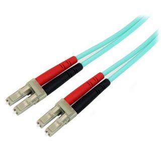 Product image of StarTech (1m) 10 Gb Aqua Multimode 50/125 Duplex LSZH Fiber Patch Cable LC - LC