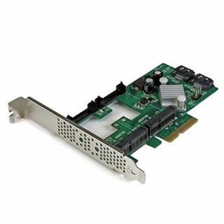 Product image of StarTech 2 Port PCI Express 2.0 SATA III 6Gbps RAID Controller Card with 2 mSATA Slots and HyperDuo SSD Tiering