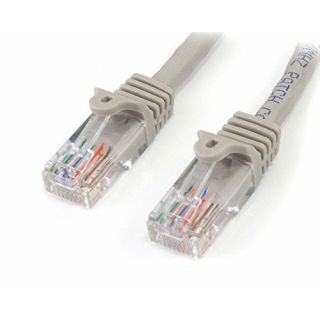 Product image of StarTech (5m) Cat5e Snagless UTP Network Patch Cable RJ-45/RJ-45 (Grey)