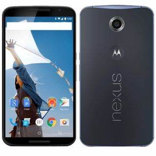 Product image of Motorola Nexus 6 (6 inch Touch) Mobile Phone Qualcomm (2.7GHz) 3GB-RAM 64GB Wi-Fi WWAN Bluetooth Camera Android 5.0 (Midnight Blue)