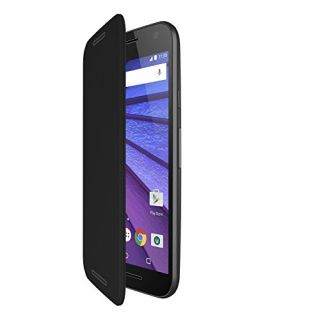 Product image of Motorola Flip Shell Cover Case (Charcoal) for Moto G 3rd Gen Smartphones