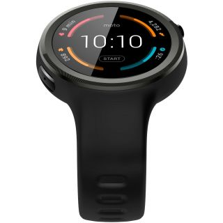 Product image of Motorola Moto 360 Sport Smartwatch and Heart Rate/Activity Tracker with Bluetooth Connectivity Compatible with iPhones and Android Smartphones - Black