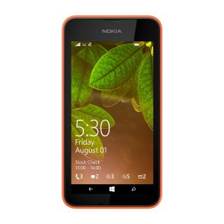 Product image of Nokia Lumia 530 (4 inch Touchscreen) Smartphone Snapdragon (200) Quad Core 1.2GHz 512MB 4GB WLAN BT 5MP Camera (Rear) Windows Phone 8.1 (Bright Orange)