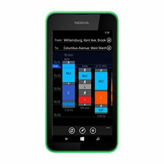 Product image of Nokia Lumia 530 (4 inch Touchscreen) Smartphone Snapdragon (200) Quad Core 1.2GHz 512MB 4GB WLAN BT 5MP Camera (Rear) Windows Phone 8.1 (Bright Green)