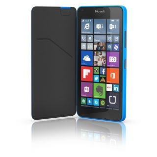 Product image of Microsoft CC-3089 Flip Shell Case (Cyan) with Card Pocket for Lumia 640 Mobile Phones