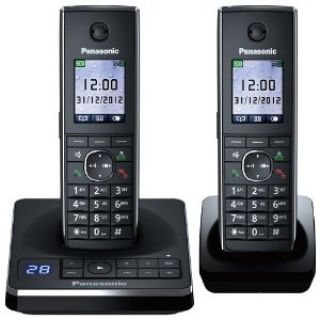 Product image of Panasonic KX-TG8562EB (1.8 inch) TFT DECT Cordless Twin Telephone with 100 Name and Number Phonebook (Black)