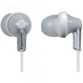 Product image of Panasonic Ear Drops RP-HJE120 ErgoFit Earbud Headphones (Silver)